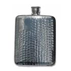 Bisley 6oz Hip Flask - Hammered Finish