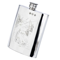 Bisley 6oz Fisherman Pewter Hip Flask