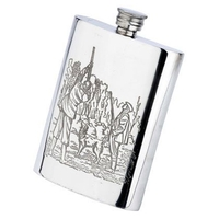 Bisley 6oz Game Season Pewter Hip Flask