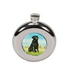Bisley 4.5oz Round Labrador Hip Flask
