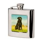 Bisley 6oz Square Labrador Hip Flask