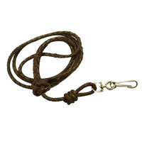 Bisley Plaited Leather Lanyard