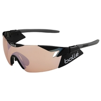 Image of Bolle 6th Sense Sunglasses - Shiny Black/Grey Frame - Modulator Rose Gun Lens