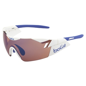 Image of Bolle 6th Sense Sunglasses - Shiny White/Blue Frame - Rose Blue Lens