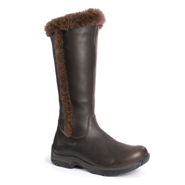 brasher kitale shearling lined womens boots chocolate