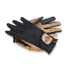 Image of Browning Mesh Back Clay Shooting Gloves - Black / Beige