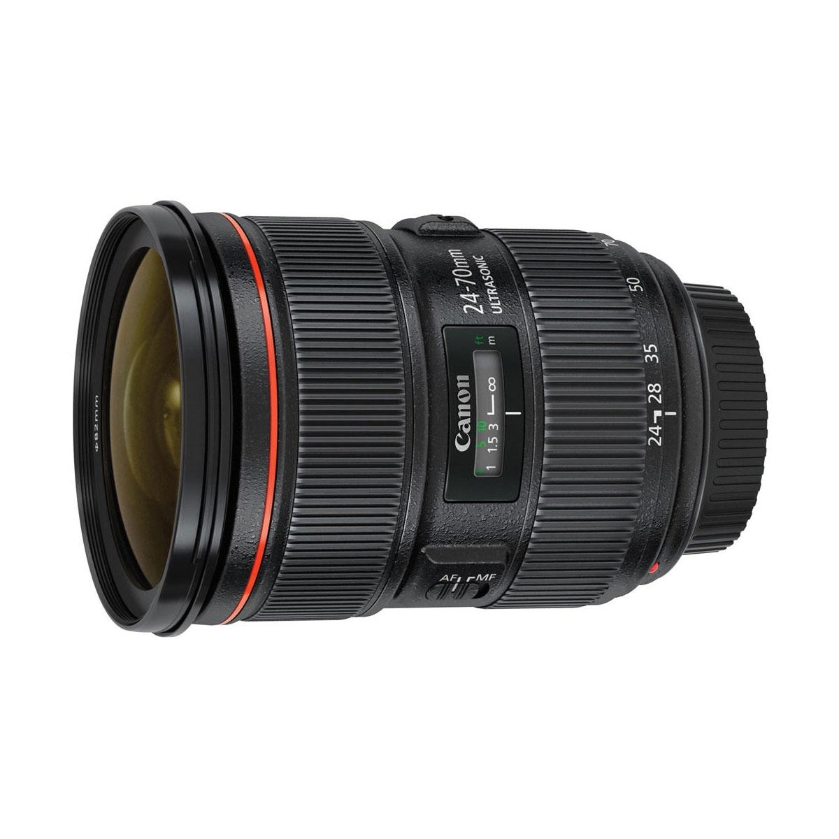 canon ef 24 70mm f2 8 l ii usm lens with case and lens. Black Bedroom Furniture Sets. Home Design Ideas