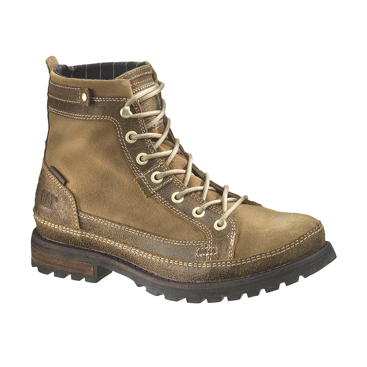 cat bryant walking boots s cracked moonracker mud