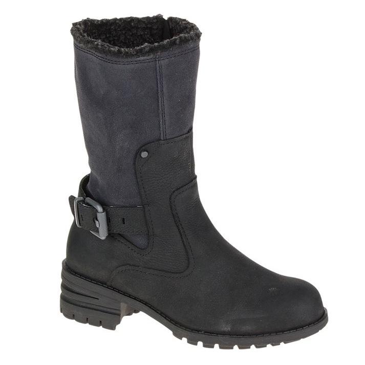 cat randi womens casual boots s black uttings