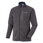 Image of Columbia Altitude Aspect Full Zip Fleece - Mens - India Ink / Black Leather