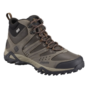 Image of Columbia Peakfreak XCRSN Mid Leather Outdry Walking Boot - Men's - Mud / Caramel