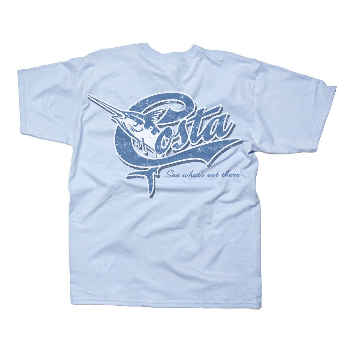 Costa Del Mar Retro T Shirt Light Blue