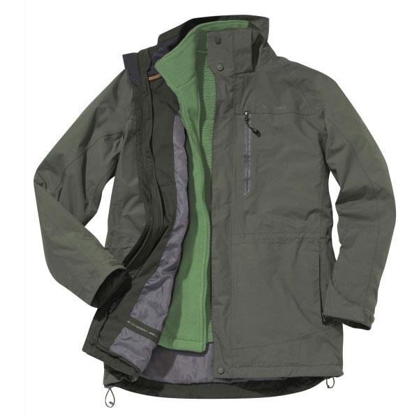 Craghoppers Mens Kiwi 3-in-1 Waterproof Jacket - Cedar/Wheatgrass ...