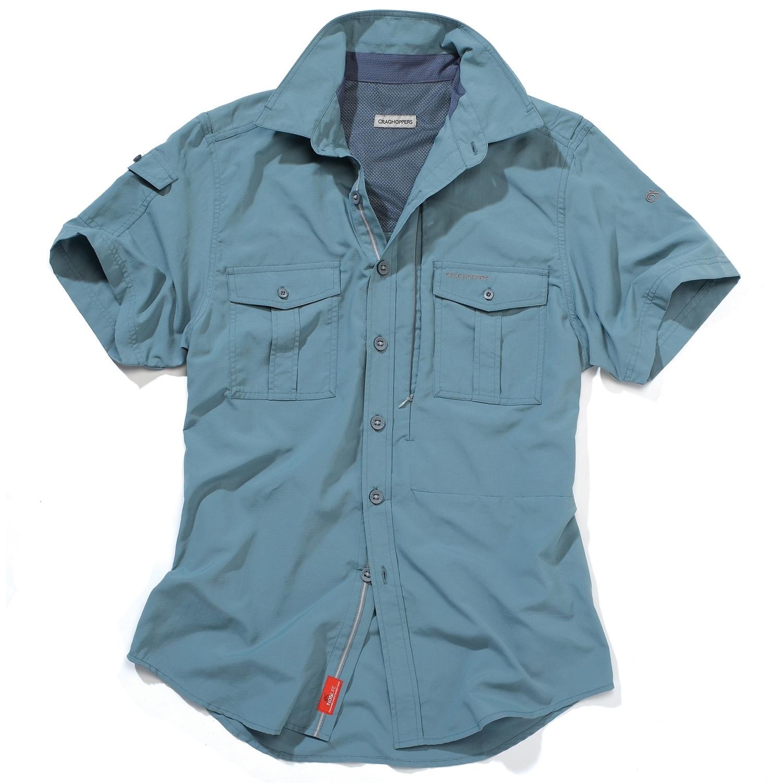 Image of Craghoppers Mens NosiLife Short-Sleeve Shirt - Vapour Blue