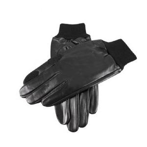 Image of Dents Fleece Lined Leather Shooting Gloves - Black