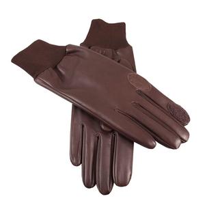 Image of Dents Royale Aqua 3000 Silk Lined Shooting Gloves - R/H Trigger - Brown