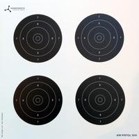 Flip Target Paper Targets - Air Pistol 10m - 50pk