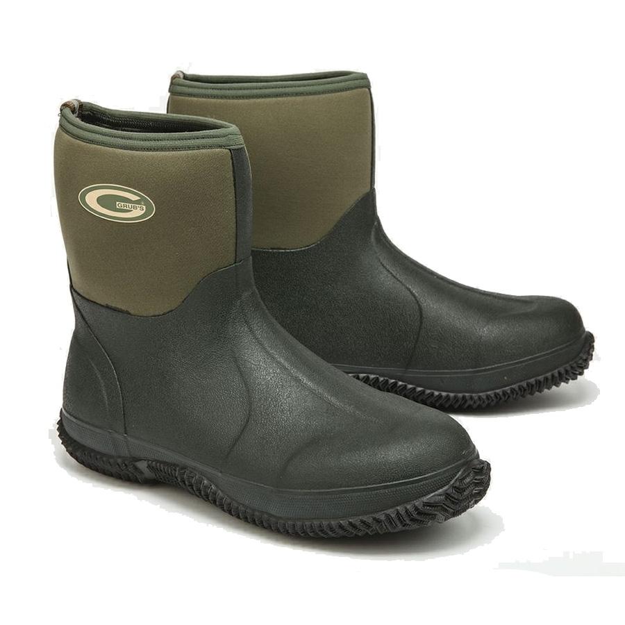 grubs field mid neoprene wellington boots unisex green