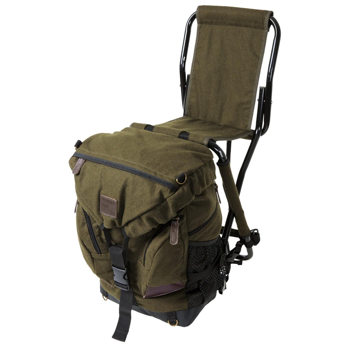 Backpack fishing chair - Image Of Harkila Abisko Rucksack Chair Melton Wool Green