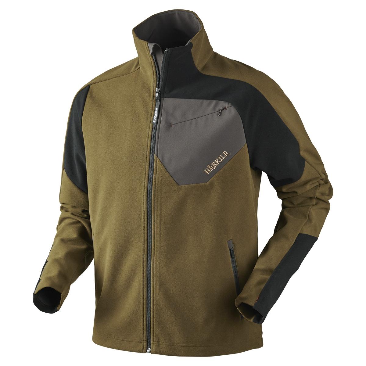 Harkila Thor Fleece Jacket - Olive Green / Black | Uttings.co.uk