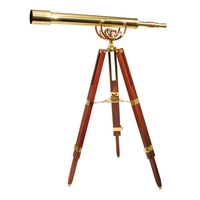 Helios Fine Brass 8040 Traditional Solid Brass Telescope