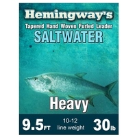 Hemingways Furled Leader - Heavy - 9.5ft - 30lb