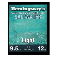 Hemingways Furled Leader - Saltwater Light - 9.5ft - 12lb