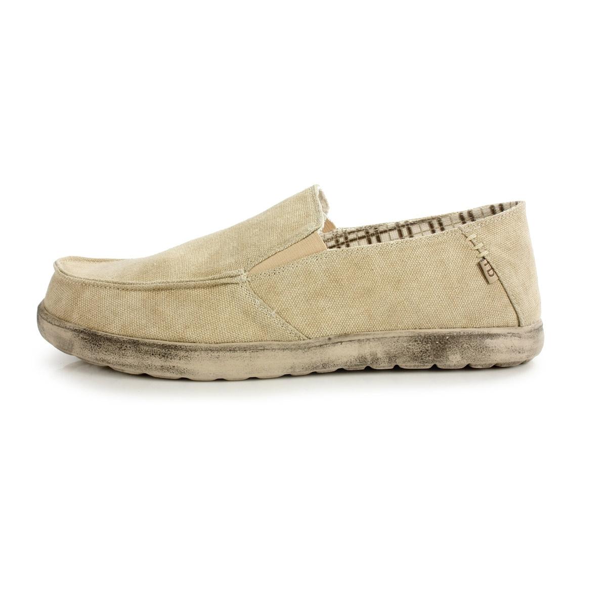 hey dude forli canvas shoe s beige uttings co uk