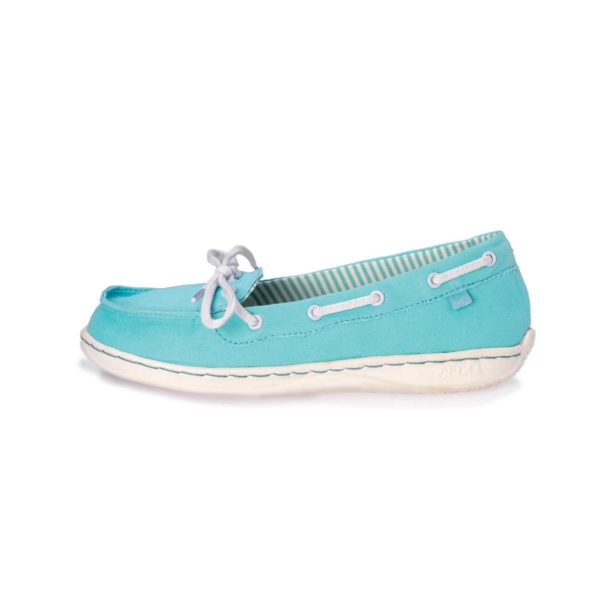 Image of Hey Dude Moka Slip On Cord Canvas Deck Shoe (Women's) - Aqua