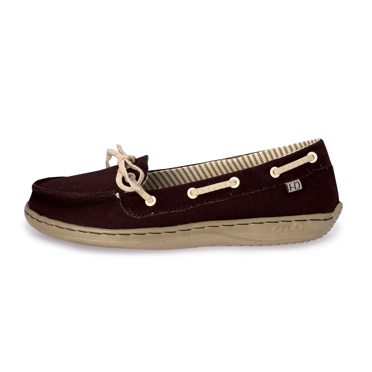 canvas lace up boat style shoe. 9 View All Crocs; 9