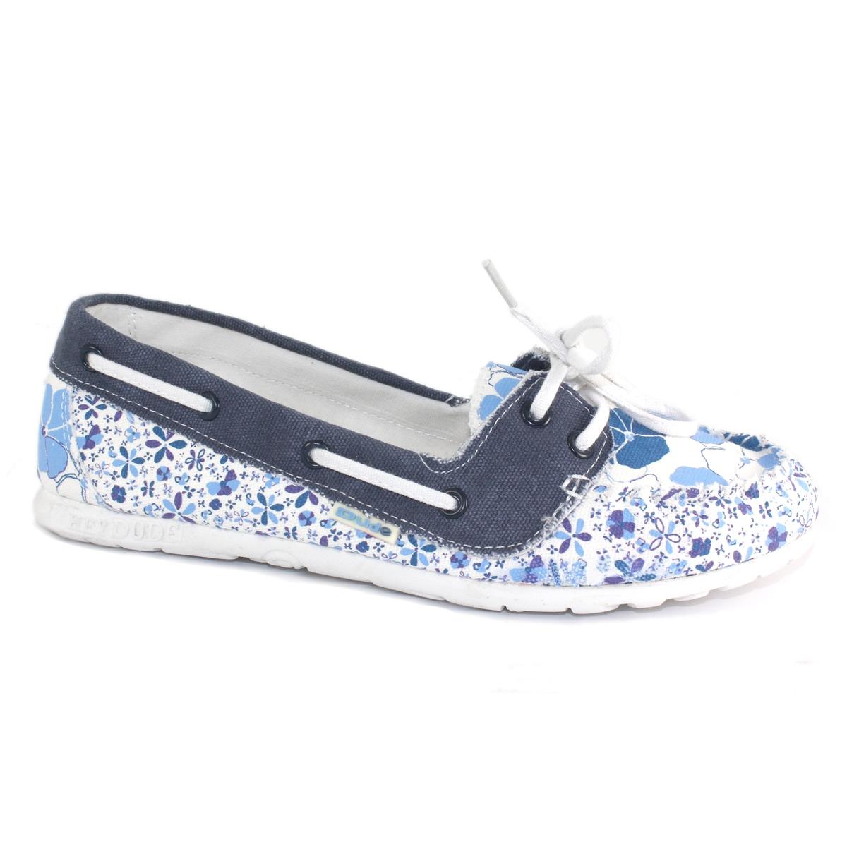 hey dude positano patterned canvas shoe s blue