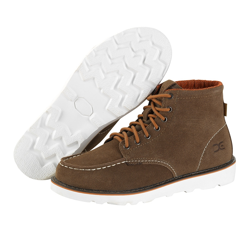 Image of Hey Dude Rocca Suede Moc Toe Boots - Tan