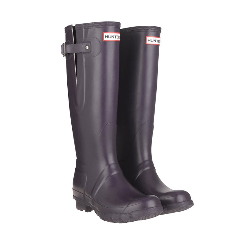 Image of Hunter Original Adjustable Wellington Boots (Unisex) - Aubergine