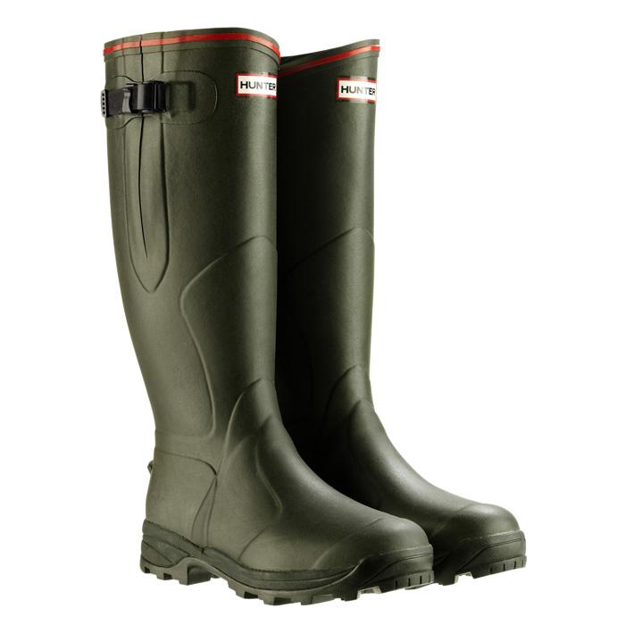 hunter balmoral neoprene wellington boots unisex dark olive. Black Bedroom Furniture Sets. Home Design Ideas