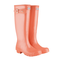 Image of Hunter Original Gloss Wellington Boots - Coral