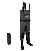 Imax Challenge Chest Neoprene Chest Waders - Cleated Sole