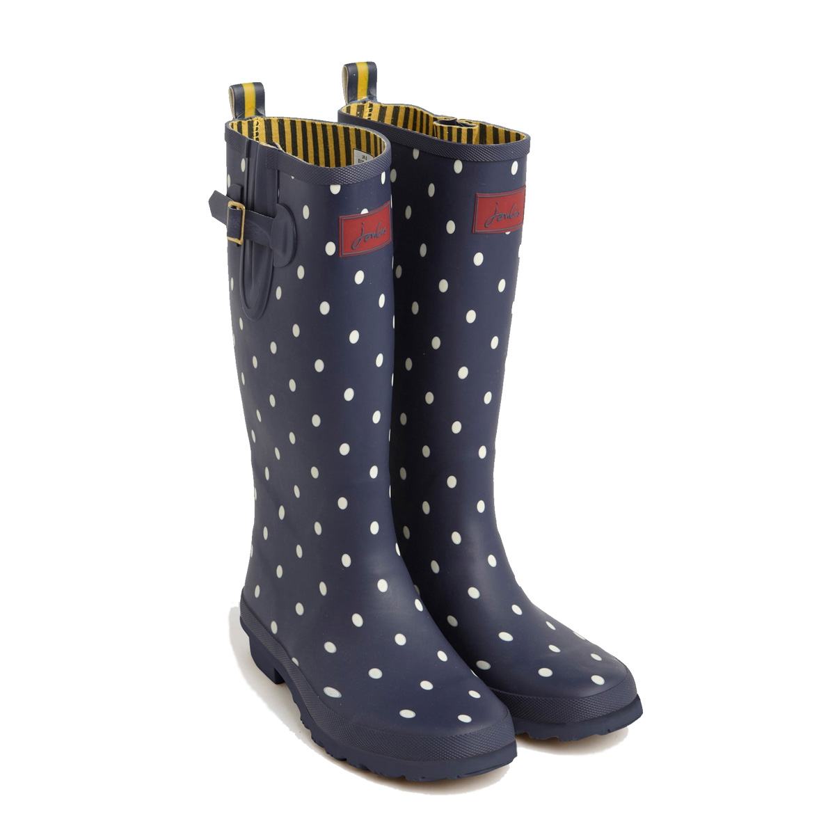 joules wellyprint wellies women 39 s navy spot uttings. Black Bedroom Furniture Sets. Home Design Ideas