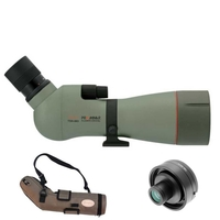 Kowa TSN-883 88mm Prominar Angled Spotting Scope Body with 25-60x Wide Zoom Eyepiece, Stay On Case and 1.6x Extender