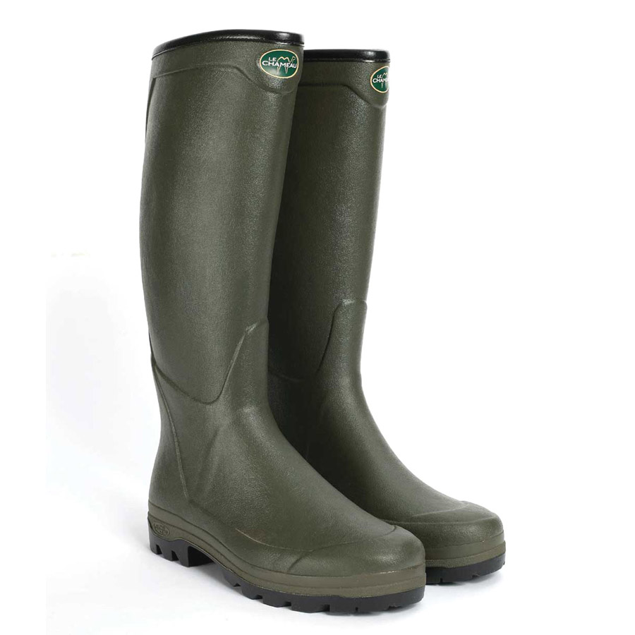 le chameau all tracks country neoprene wellington boots
