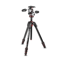 Manfrotto 190 Go! MS Carbon Fibre 4 Section Tripod Kit With XPRO 3-Way Head