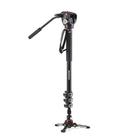 Manfrotto MVMXPROA42W XPRO 4 Section Video Monopod With Two Way Head And Fluidtech Base