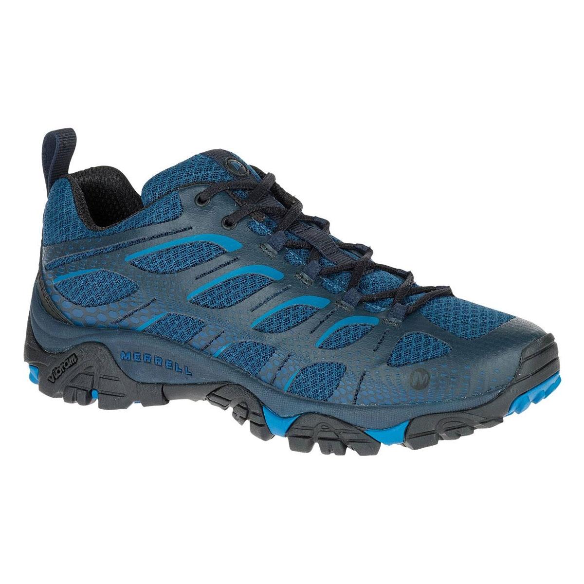 Image of Merrell Moab Edge Walking Shoes (Men's) Poseidon