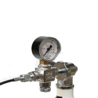 Midland Diving Equipment DIN Charging System with Gauge, Bleed and 500mm Anti Kink DIN Hose