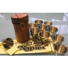 Image of Napier Peg Finder Tumbler Set in Leather Case