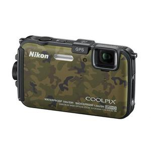 Image of Nikon Coolpix AW100 16MP Camera - Camo