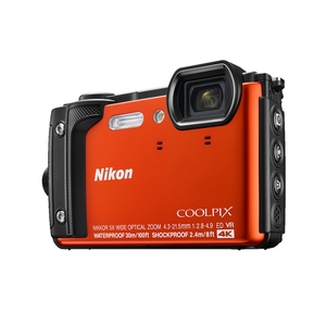 Image of Nikon Coolpix W300 16MP Waterproof Camera - Orange