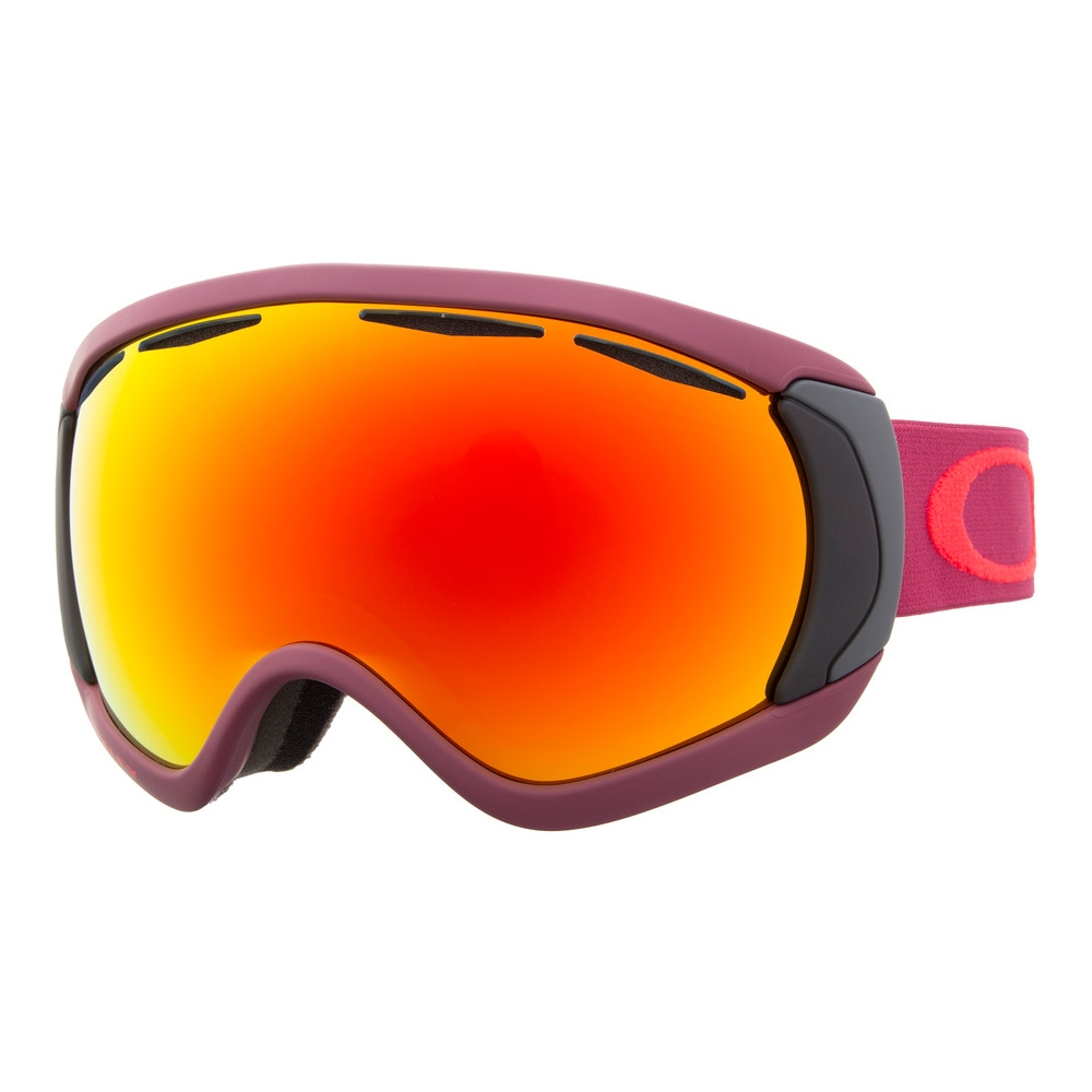 red oakley goggles  Oakley Canopy Ski Goggles - Burnt Red / Fire Iridium