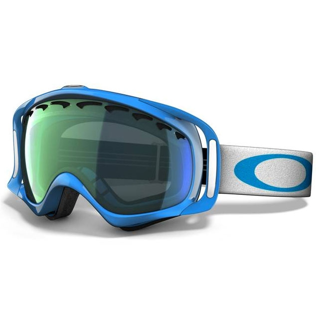 oakley ski goggles crowbar  Oakley Crowbar Snow Goggles - Jewel Blue / Emerald Iridium ...