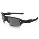 Image of Oakley Flak 2.0 Polarized Sunglasses - Polished Black Frame/Black Iridium Polarized Lens
