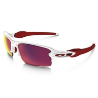 Image of Oakley Flak 2.0 Prizm Road Sunglasses - Polished White Frame/Prizm Road Lens